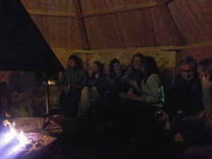 Some participants meet up in Kota after Boreal dinner and sauna