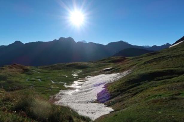 The alpine landscape at 2500m.