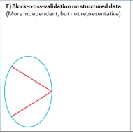 When applied to a larger sample of observations with a detectable structure (red divisions), block cross-validation could produce independent data folds that improve the confidence in measures of forecast skill.