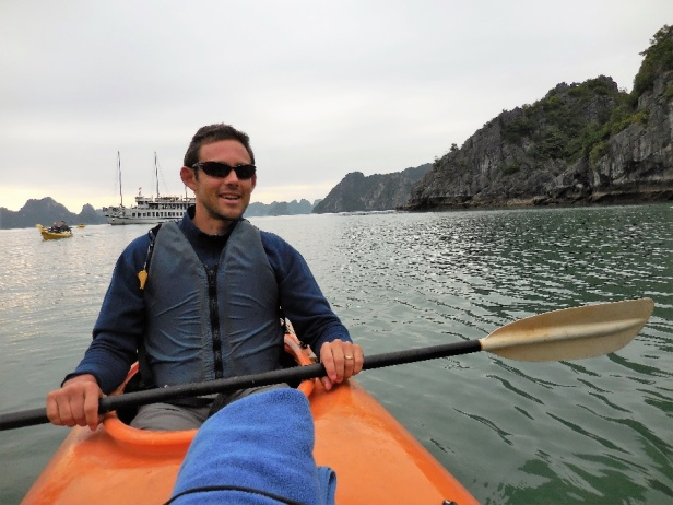 Brian Gerber in a canoe.