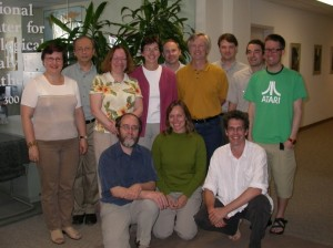 The NCEAS working group on meta-analysis in ecology which resulted in a handbook on meta-analysis. Julia is first from the left in the top row and Jessica Gurevitch is the third from the left in the top row.