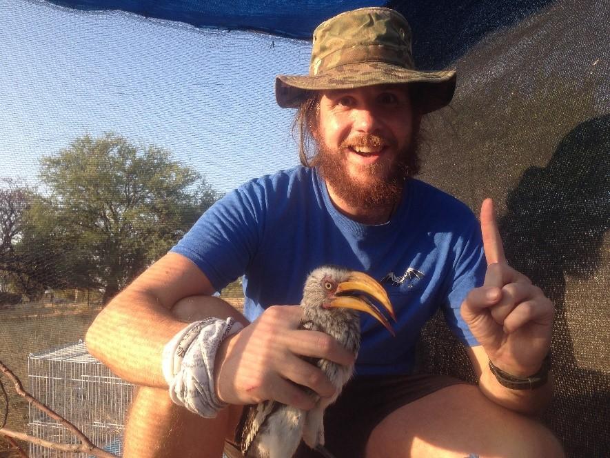 Zenon Czenze - In the Kalahari with a hot bird (Southern Yellow-Billed Hornbill)