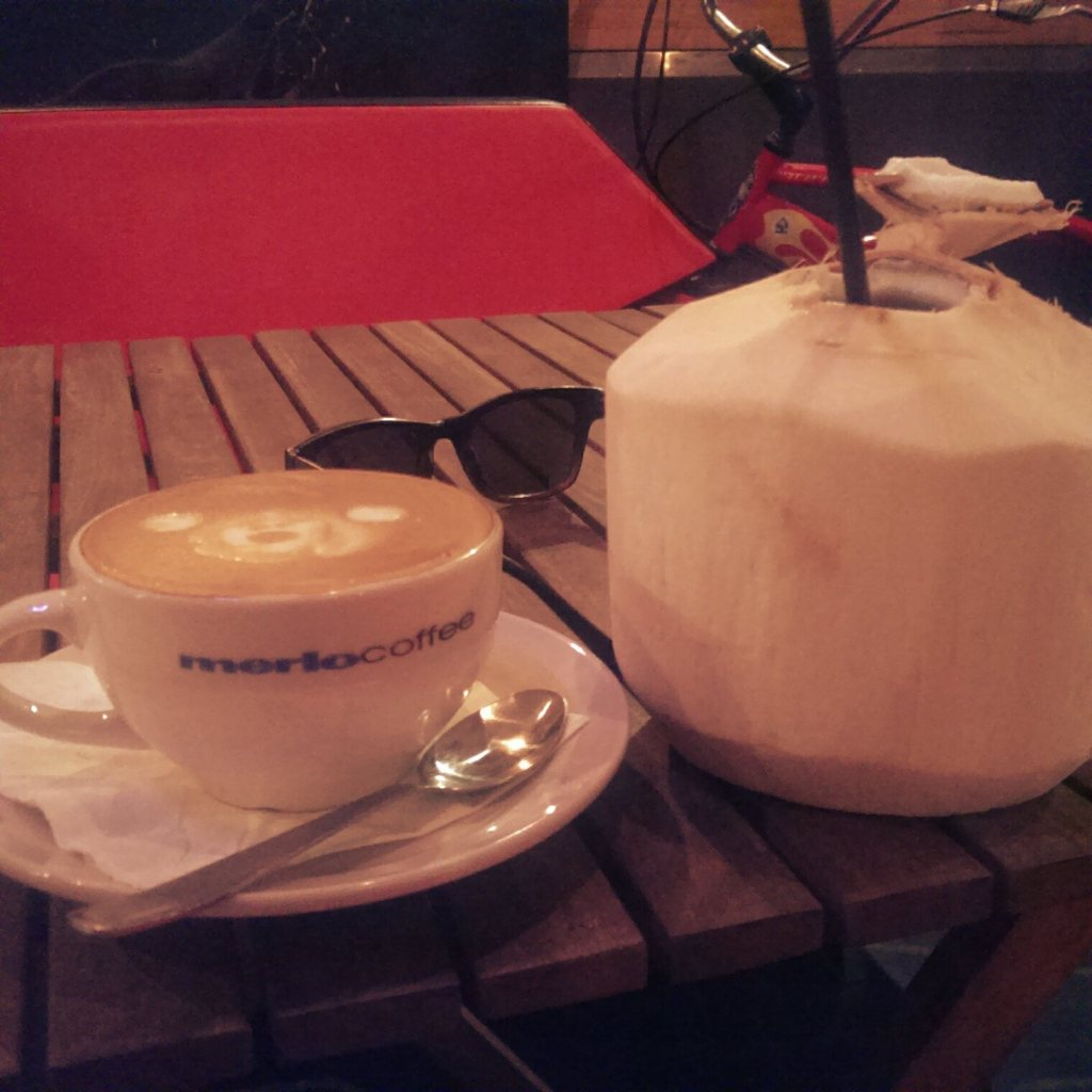 Those who know me well know how much I loved and miss the ready availability of both flat whites and fresh coconut water in Australia.