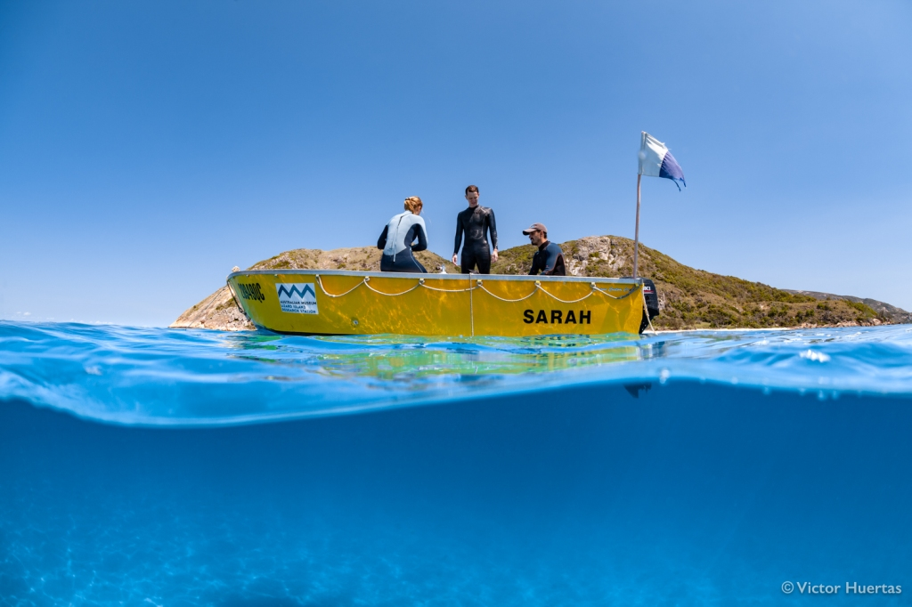 Part of the study crew during fieldwork at Lizard Island, Great Barrier Reef. Photo by Victor Huertas.