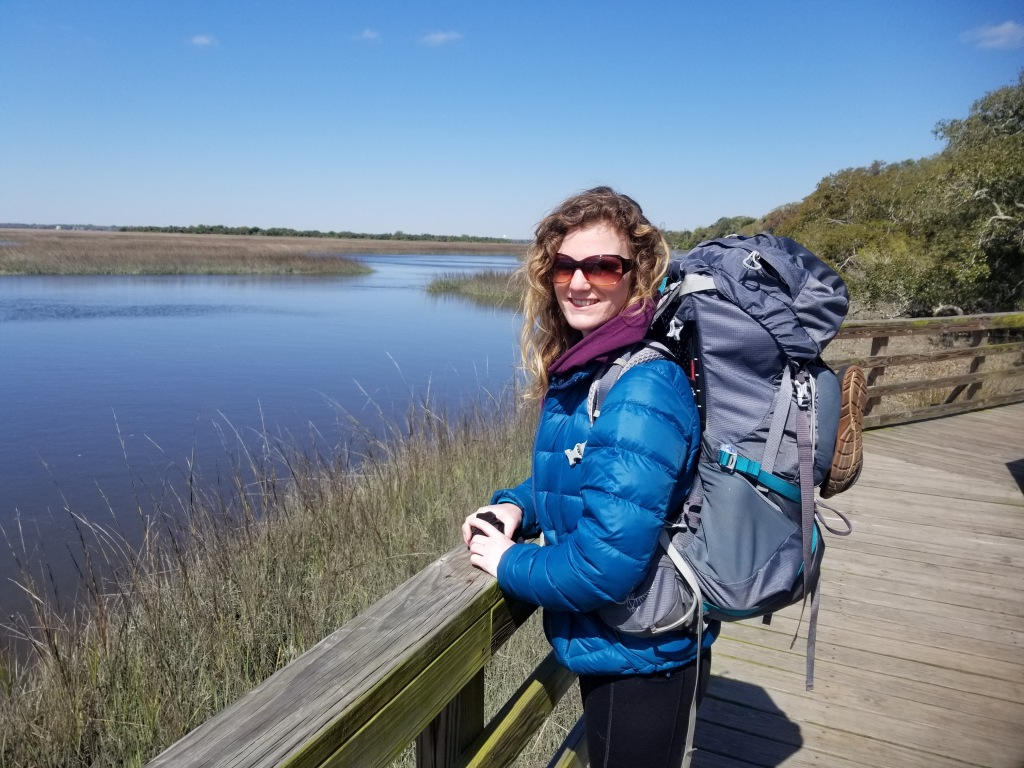 An ecologist on vacation. Jessica Moore enjoys exploring the outdoors in her work and in her free time. Photo taken at Cumberland Island National Seashore, GA.