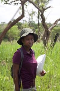 Sarah Konaré at the Lamto savanna. Photo: T. Srikanthasamy