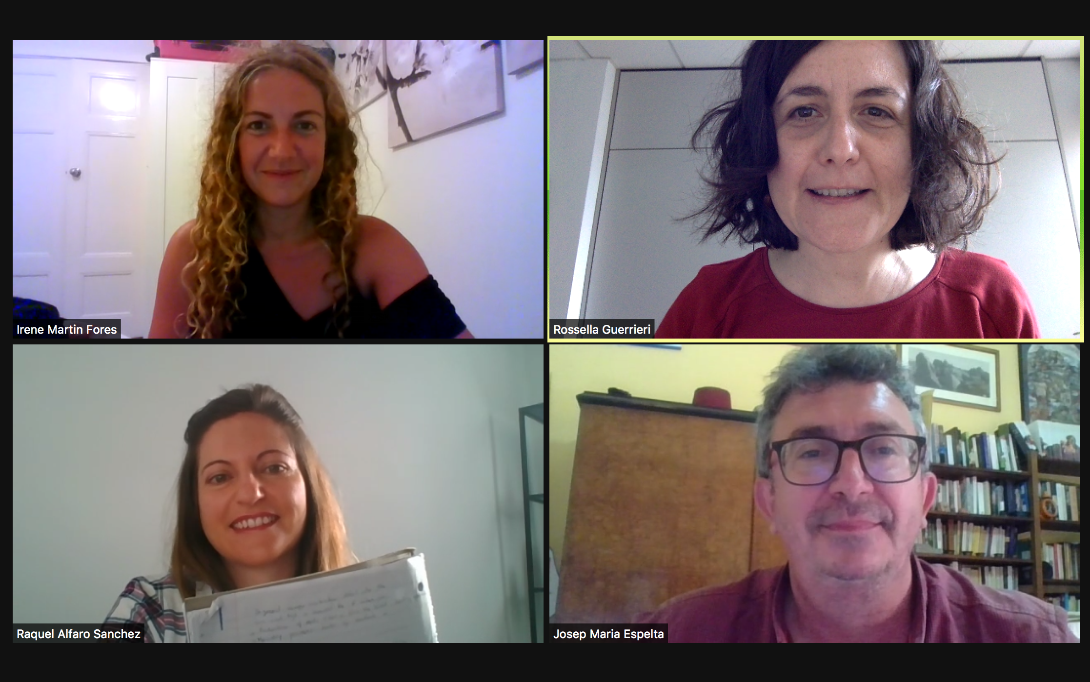 A virtual meeting between co-authors