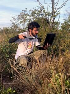 Marco sampling savanna environmental conditions in the Cerrado